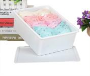 GAMT Plastic Underwear Bra Storage Box One Grid with a Lid white