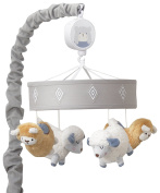 Happi By Dena Lambs & Ivy Little Llama Sheep Musical Mobile, Grey/Blue
