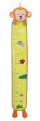 SKK BABY Growth Height Chart Kids Plush Hanging Ruler For Nursery Wall Decor Monkey