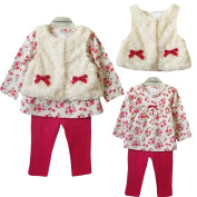 Outfits Clothes,Siniao 1Set Baby Kid Toddlers Girl Clothes Floral T-shirt Tops+Leggings+Vest Outfit Set
