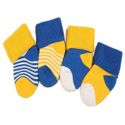VOGUE CODE Winter Thick 4 Pairs Mixing Colour Warm Wool Crew Socks for kids