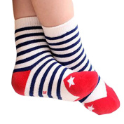 VOGUE CODE Winter Thick 5 Pairs Mixing Colour Warm Wool Crew Socks for Kids