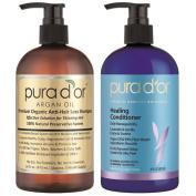 Pura d'or Premium Organic Anti-Hair Loss Shampoo and Conditioner Set