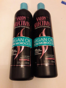 2x Total - Salon Selectives Argan Oil From Morocco Colour Safe Moisturising Shampoo