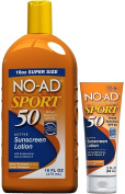 No-Ad Sport Sunscreen Lotion SPF 50, 470ml Bottle Bundled with 90ml Tube