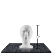 Styrofoam Head Mannequins, Style, Model & Display Women's Wigs, Hats & Hairpieces - Extra Small, 28cm - by Adolfo Designs