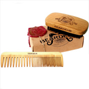 Beardeur Handcrafted Boar Bristle Beard Brush & Beard Comb Kit for Mens Beards & Hair