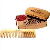 Beardeur Handcrafted Boar Bristle Beard Brush & Beard Comb Kit for Mens Beards & Hair