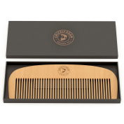 GRIZZLY ADAM Hair and Beard Comb - Wood with Anti-Static & No Snag Handmade Brush for Beard, Head Hair, Moustache with Design in Gift Box by Grizzly Adam