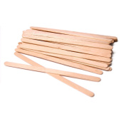 Sturdy Waxing Applicator Sticks 13cm - 1.3cm x 0.6cm