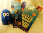 Finding Dory Stocking Stuffer Bath & Beauty Kit 3 Pc Bubble Bath Lip Balm Nail Art