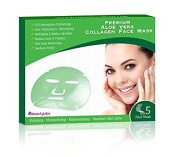 Collagen Anti Ageing Korean Beauty Aloe Vera Face Mask (Pack of 3 Boxes x 5 ea/Box = 15 Total Masks) Deeply Moisturising, Rejuvenating, Toning, Acne & Blemishes Reducing Face Mask