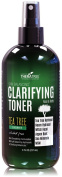 Clarifying Toner with MSM, Tea Tree & Neem Hydrosol, Acne Control for Face & Body - Natural Pore Reducer Controls Oil to Smooth, Tone, Balance & Hydrate Skin, Sodium PCA - 240ml