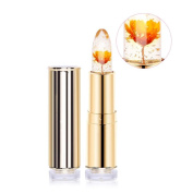 Htgtai Jelly Flower Lipstick Translucent Moisturiser lipsticks Lips Care Surplus Bright Lip Balm-Minute Maid Yellow