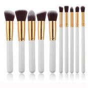 Mosunx(TM) 10pcs Powder Foundation Eyeshadow Makeup Brushes Set Tool