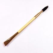 Mosunx(TM) 1PCS Bamboo Handle Double Eyebrow Brush + Eyebrow Comb