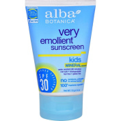 Alba Botanica Very Emollient Natural Sun Block Mineral Protection Kids SPF 30 -