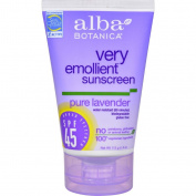 Alba Botanica Very Emollient Natural Sunblock SPF 45 Pure Lavender - 120ml