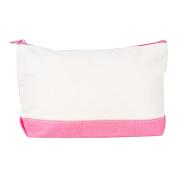 Rhombus Canvas Make Up Bag Flamingo Pink