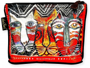 Laurel Burch Gato Foil Cosmetic Bag One Size Multi