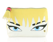 Betsey Johnson Cosmo Blonde Face Kitch Cosmetic Case - Fushia