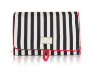 Betsey Johnson Fold Out Cosmetic Case- Stripe