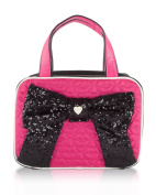 Betsey Johnson Weekender Bow Cosmetic Case - Black