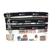 LeSportsac Essential Classic 3 Zip Pouch, Library