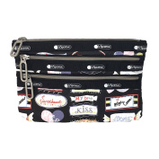 LeSportsac Essential Classic 3 Zip Pouch, Sweet Talk