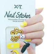 X.T Nail Polish Strips Banana & Monkey Nail Sticker