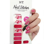 X.T Nail Polish Strips Date Red Love Hearts Nail Sticker