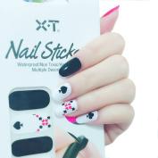 X.T Nail Polish Strips Poker Red Hearts Nail Sticker