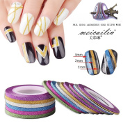 1/2/3 mm Matte Nail Striping Tape Manicure Decal 18 Pcs Mixed Colours Rolls Striping Tape Line DIY Nail Art Tips Decoration Sticker Nail Care