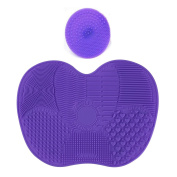 Sipaike Makeup Brush Cleaner Silicone Makeup Brush Cleaning Mat Pad Set of 2pcs Cosmetic Brush Cleaning Tool
