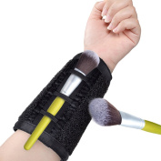 GooMart Wrist Belt Makeup Brush Cleaner Sponge for Professional and Personal Use- Quickly Remove Shadow Colour from Brush