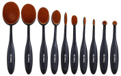 BS-MALL Oval Makeup brushes Toothbrush Design Makeup Brush Set