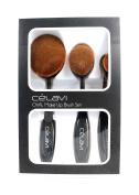 CELAVI Oval Makeup Brush 3pcs Set