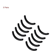 5 Pairs Black Silicone Replacement Refill Pads Cushion for Eyelash Curler