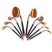 CoKate Makeup Brush Set, 9PC Golf Shape Pro Makeup Set Brushes Powder Foundation Brush