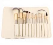 GAMT 12 PCS Persian Wool White Cosmetic Brush Set White