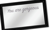 """You Are Gorgeous,"" Hand Held Beauty Mirror (Black) by You Are Exquisite"