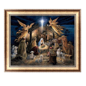 Delight eShop DIY 5D Diamond Painting Angels Embroidery Cross Stitch Crafts Home Decor