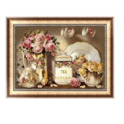 Delight eShop Vase 5D Diamond Embroidery DIY Craft Painting Cross Stitch Mosaic Home Decor