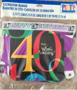 Happy 40th Birthday Banner 1.8m Long
