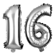 16 Balloons for Sweet 16th Birthday Party, 41cm Size