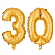 30 Number Balloons for 30th Birthday or Anniversary Party, Decorations and Supplies