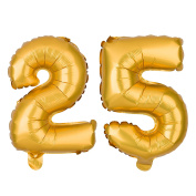 25 Number Balloons for 25th Birthday or Anniversary Party, Decorations & Supplies