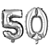 50 Large Number Balloons for Birthday or Anniversary Party Decorations