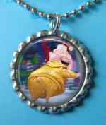 1 SING Silver Bottle Cap Pendant Necklace #3