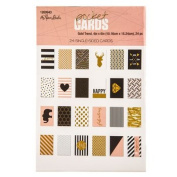 Gold Trend Pocket Cards - Set of 24 Double Sided